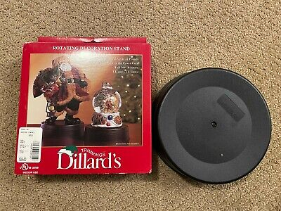 Dillards Trimmings Electric Rotating Stand Base for Decorations New in Box RARE