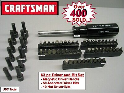 CRAFTSMAN HAND TOOLS 63 pc Magnetic Torx Handle Screwdriver / Nut driver set !!
