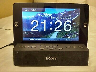 Sony Dream Machine ICF-CL75IP iPhone iPod AM FM Alarm Clock Radio 7 LCD Screen