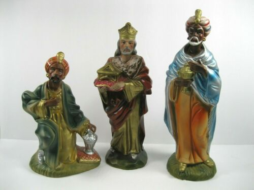 Vintage Paper Mache Wise Men Nativity Figures Made in Japan set of 3