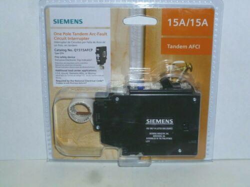 Siemens 15 Amp 120-Volt 1-Pole Tandem CAFCI Type QTA Circuit Breaker Q1515AFCP