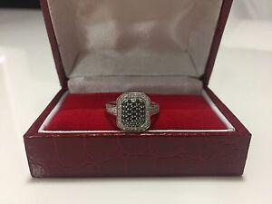 Gorgeous white & black diamond white gold ring! Dianella Stirling Area Preview