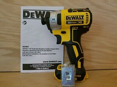 New DEWALT DCF887  20V MAX  XR Brushless 1/4