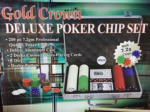 Deluxe Poker Chip Set with extra chips and a Deluxe Poker Shoe Cottesloe Cottesloe Area Preview
