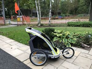 Jogger double stroller trailer Allen sports / chariot