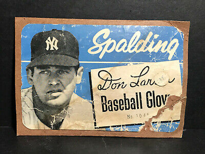 1956 Spalding Baseball Glove Box Panel DON LARSEN New York Yankees WS No-Hitter
