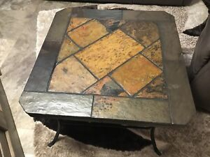 Pure stone and metal coffee table