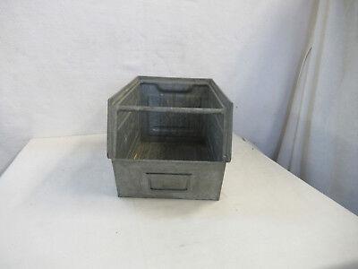 Gebraucht, Alte Lagerkiste Metall Industriedesign Regal Metallkiste Stapelbox Fa. Rapidbox gebraucht kaufen  Nürnberg