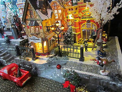 Christmas Village Display BiG Double STAIRCASE platform base 28x12 Dept 56
