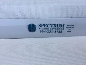 8 new spectrum  vinyl roll up blinds