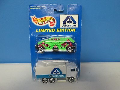 Hot Wheels Limited Edition Albertson 2 Car Pack W Zombot