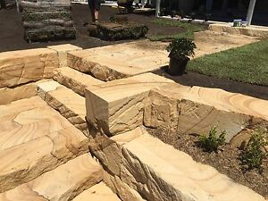 Supply & Install Sandstone block walls,stairs Valentine Lake Macquarie Area Preview