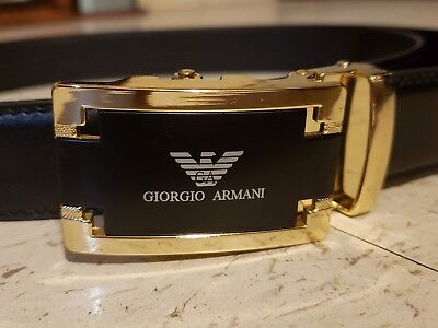 GIORGIO ARMANI belt - leather - slide buckle - adjustable size from 28 up to 36 ()
