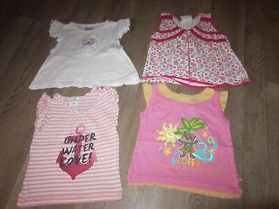 Sehr süße 4x Tops Shirts Tunika Gr. 74-80 Markentops Mädchen Baby TOP