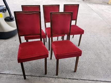 Vintage retro red velvet dining chairsVintage Retro Dining Kithcen Chairs x6   Dining Chairs   Gumtree  . Dining Chairs Gumtree. Home Design Ideas