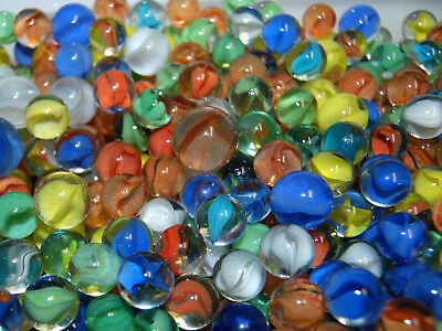 """L@@K MIXED LOT OF 30 CATS EYE MARBLES FROM 9/16"""" TO 5/8"""" MARBLES"""
