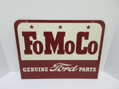 "Vintage FoMoCo Ford Genuine Parts Gas Oil 18"" Metal Sign"