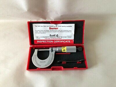 Starrett T230xrl 01 Outside Micrometer Calibrated