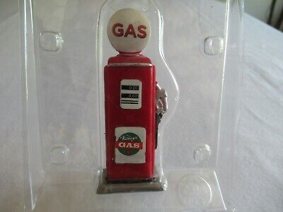 """NEW Lemax Christmas Village Coventry Cove Red Gas Pump 3.25"""" Train Set-up"""