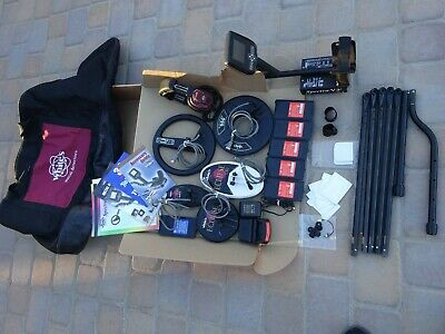 Whites Spectra V3i Metal Detector With Headphones Battery Packs And Extra Coils