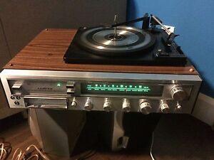 Beau petit système de son avec table tournante