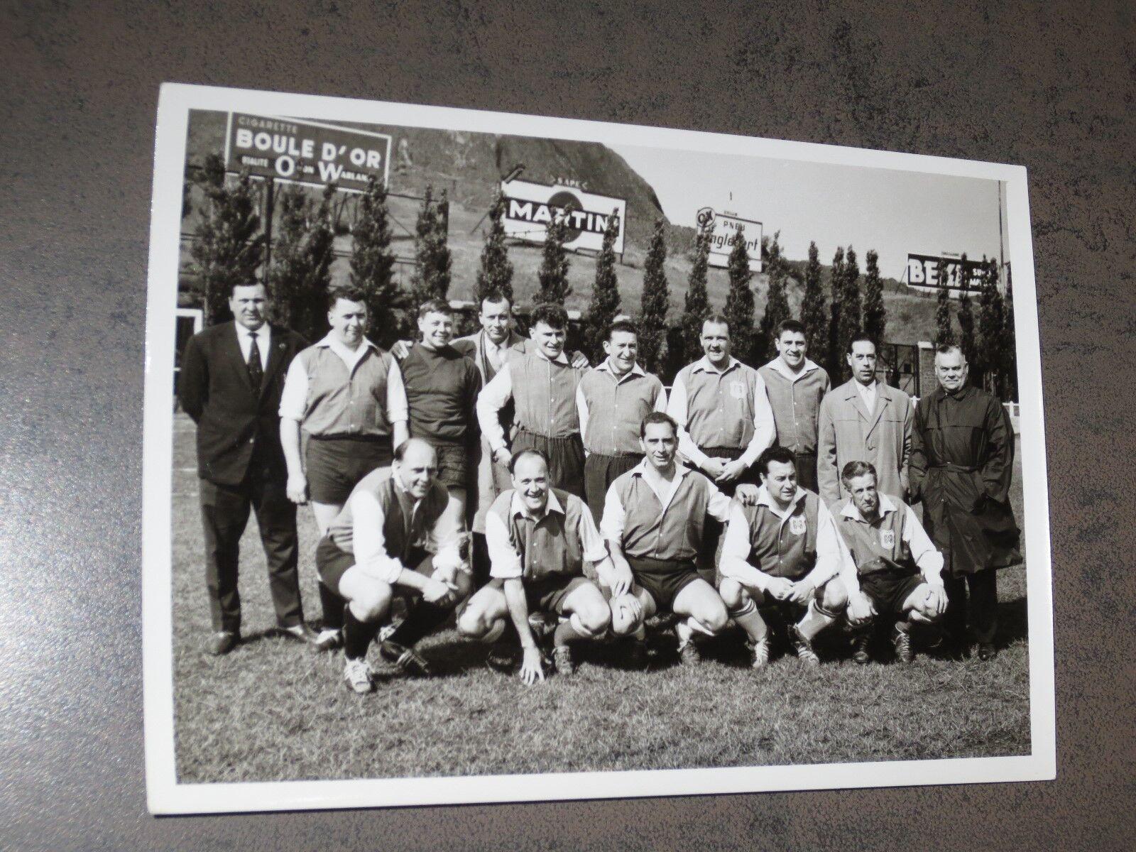 Football Belge Photographie Press ancienne Rare 13 cm sur 17 cm - RSCA