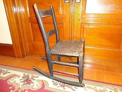 1800-1899 Antique 19th.c Pennsylvania Rush Seat