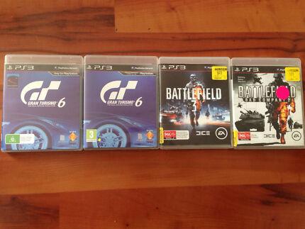 PS3 games battlefield 2/3 & Gran Turismo 6