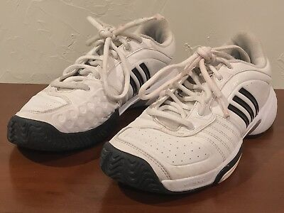 new concept 704f3 5a688 Adidas Adituff Bounce Athletic Tennis Shoes White Black   Gray Womens Size 8