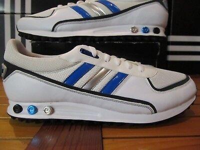 NEW Adidas Originals LA Trainer II White Blue Mtllc Silver 13 G46772 og vintage