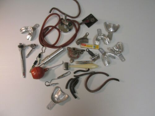 GCB Vintage lot of Dentist Dental tools & equipment you get it all oddities 1912