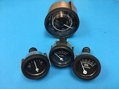 Ford 601 701 801 901 5 Speed 12v Tractor Gauge Set Tachometer Fuel Oil Pressure