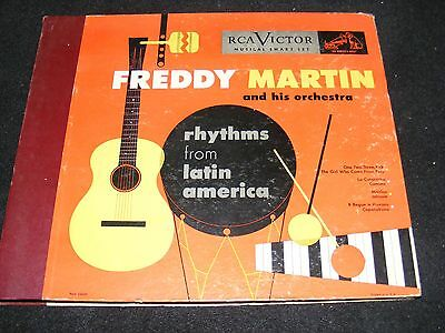 78 rpm Album Set Clean FREDDY MARTIN Rhythms From Latin America RCA Victor 1940s
