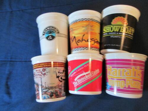 SIX ASSORTED CASINO SLOT CUPS