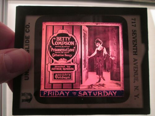 Prisoners Of Love - Original 1921  Movie Glass Slide - Betty Compson