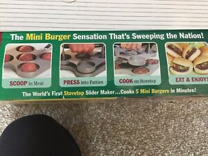 """BRAND NEW """"As Seen On TV"""" BURGERS SLIDER STATION UNIT"""