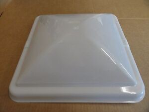 RV-Camper-Trailer-Vent-Line-RV-Roof-Vent-Cover-14-x-14-TRANSLUCENT-WHITE