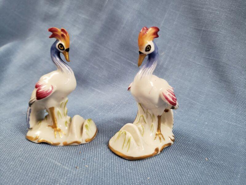 Pair of Von Schierholz Exotic Birds Place Card Holders