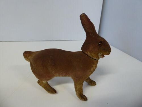 Vintage Walking Rabbit Candy Container Paper Mache Composition