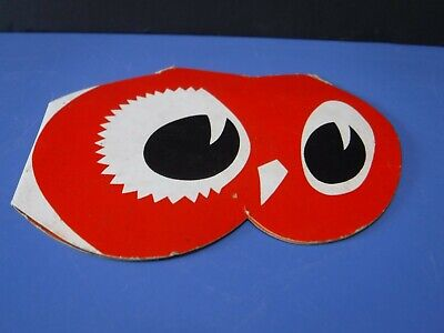 VINTAGE~RED OWL GROCERY STORE~ADVERTISING~SEWING NEEDLE BOOK~CASE~FUN!
