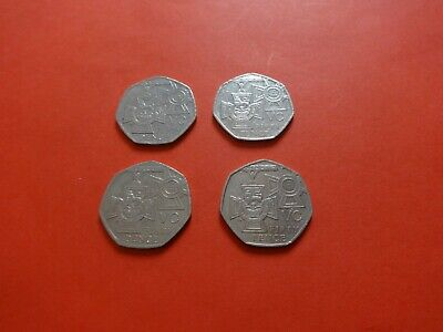 Job Lot of 4x 50p Coins (date 2006) victoria cross  Circulated good Condition