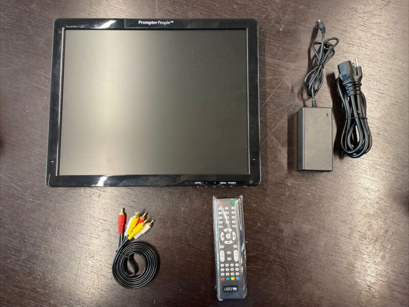 Prompter People - 17 inch studio montior and accessories