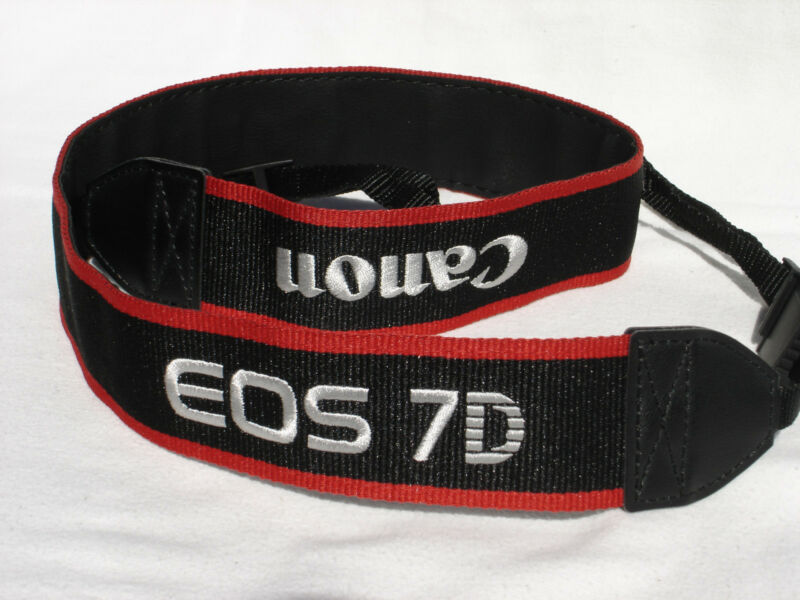 CANON EOS 7D CAMERA NECK STRAP   Black / Red