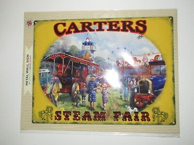 Brand New LARGE Metal Wall Sign Carters Steam Fair Traction Engine 39.5cm x 30cm