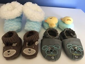 Lot of 0-6 month soft shoes