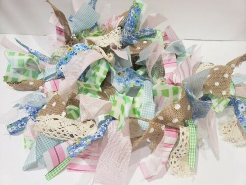 Easter Fabric Rag Pastel Garland Home Decor Decoration 6FT