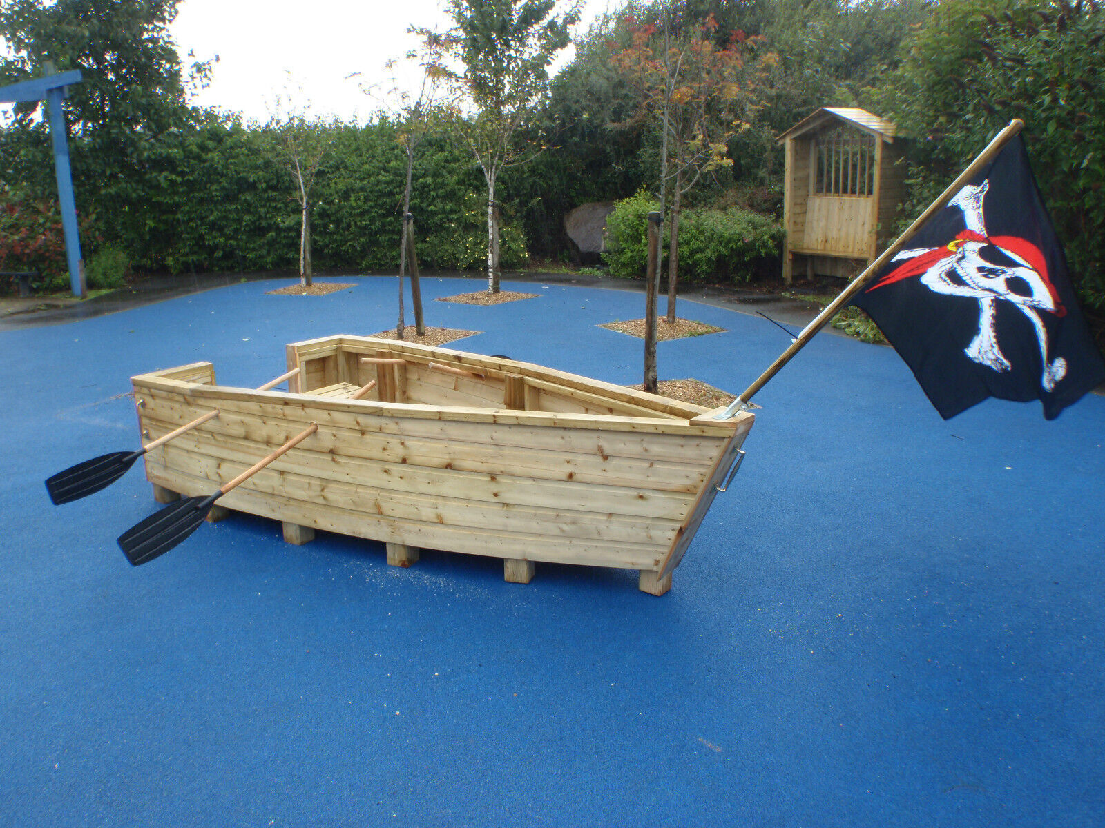 Pirate ship boat wooden playgroup creche playground - Wooden pirate ship outdoor ...