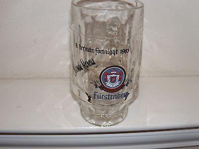 Neiman Marcus Furstenberg German Fortnight 1983 Glass Mug/Beer Stein