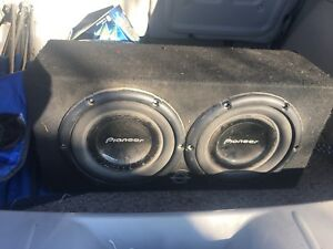 Two 10inch subwoofers