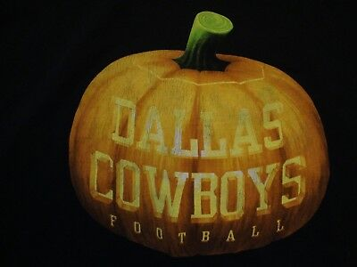 NFL Dallas Cowboys Football Jack-O-Lantern Halloween T Shirt Size 2XL](Halloween Dallas)